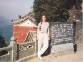 Terri Morgan at Wudang, 1995