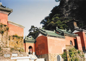 Ancient building complex at Wudangshan, 1995