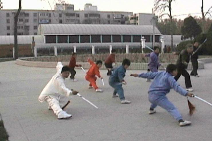 Class practice, Dragon Sword, Zhengzhou, 1999