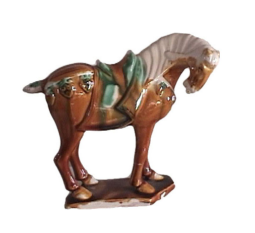 Tri-color Glazed Horse From Luoyang