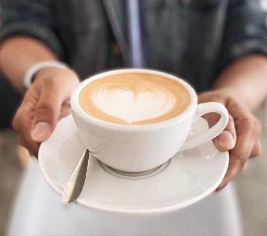 Warm cappuccino