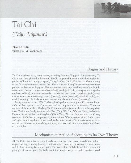 Medical Benefits of Taiji Practice