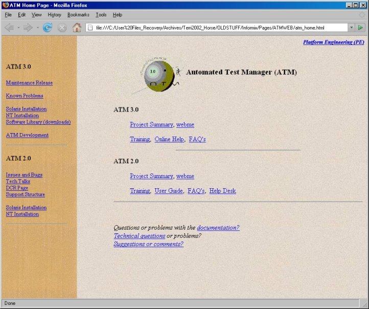 Informix ATM Portal