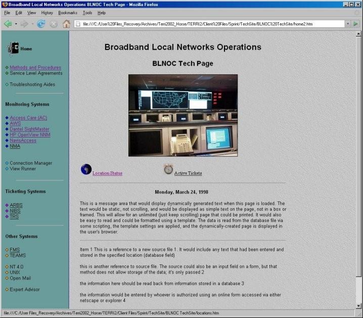Sprint NOC Portal c.1997